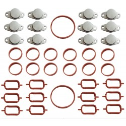 2 x Kit 13 Joint Admission + 6 Bouchon Clapet 32mm BMW 330d 335d 525d 530xd 635d 730d