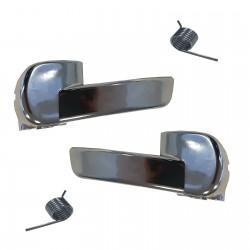 2x Poignées portes intérieure chromées avant arrière droite gauche 80670JD00E 80671JD00E Nissan Qashqai