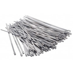 100 Stainless steel cable teis with auto closing